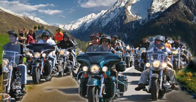 Sestriere: motoraduno turistico delle alpi occidentali